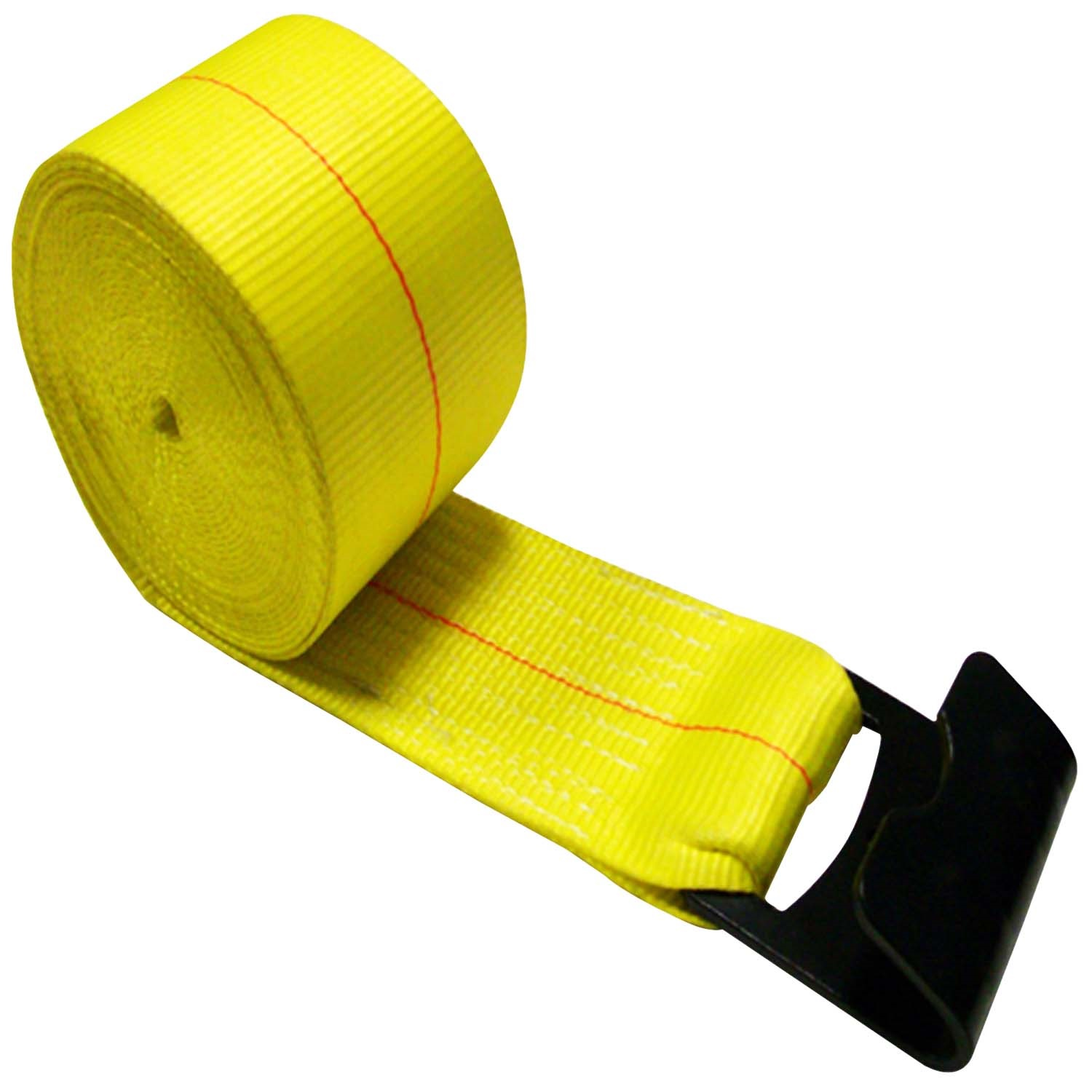 4 x 30' Winch Strap with Gold Zinc Flat Hook 16,200lb