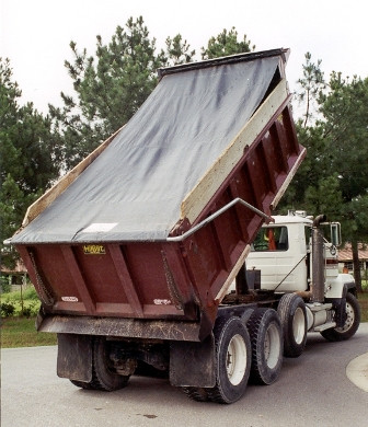 waterproof vinyl dump truck tarps straight no flaps carolina tarps