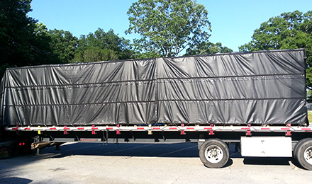 Flatbed Trucking Tarp Heavy Duty 3 Pieces Lumber Tarp 8/' Drop