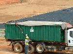 8' x 28' Universal Economy Tarp with Side Flaps for Roll-Off Tarp Systems