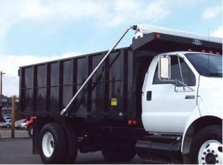 manual dump truck tarp system for dump beds up to 24 aluminum 4