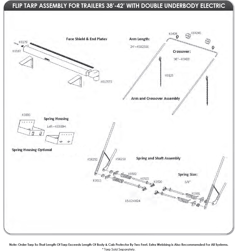 dump trailer tarp systems