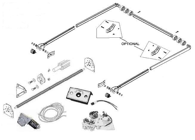 tarp_kit_drawing electric dump truck tarp system for beds up to 24' (aluminum, 4 tarp switch wiring diagram at crackthecode.co