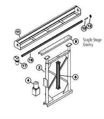 Us Tarp Single Stage Hydraulic Cylinder Gantry Unit W 4 Spring